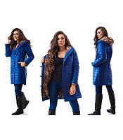 """Женское синее пальто """"Иришка """" 12П227"""