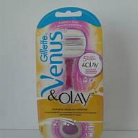 Станок женский для бритья Gillette Venus Olay + 2 картриджа (Жиллет Венус Олей), фото 1