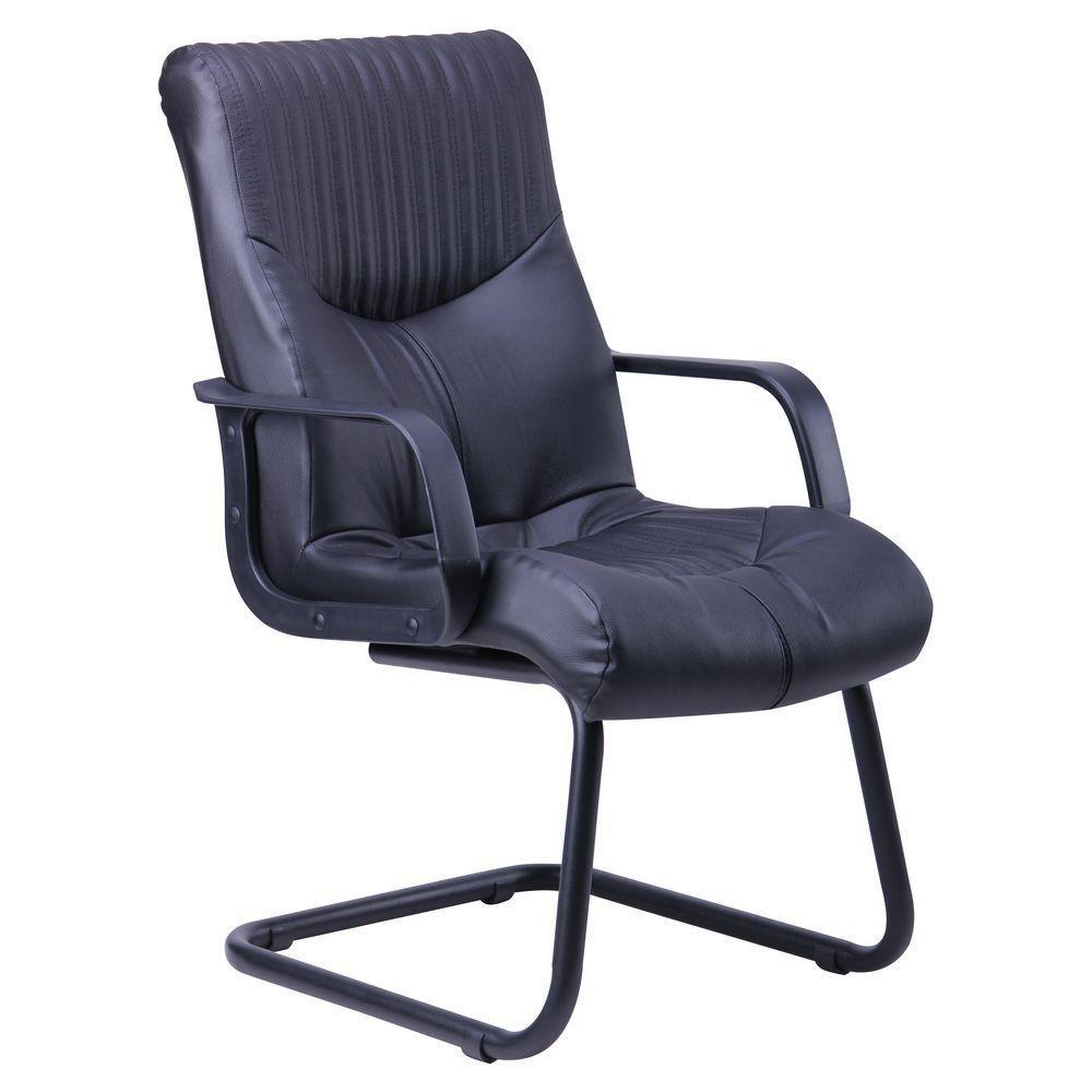 Кресло Геркулес CF Кожа Сплит черная (AMF-ТМ)