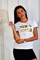 Женская футболка Нью Йорк белая