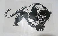 Наклейка Пантера черная (20х14см)