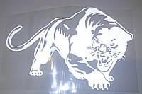 Наклейка Пантера белая (20х14см)
