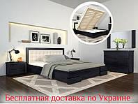 Кровать деревянная с подъемным механизмом Регина Люкс из натурального дерева двуспальная