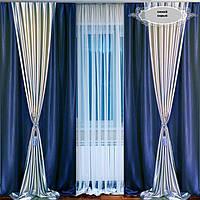 Готовый комплект штор для гостинной