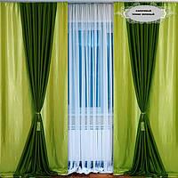 Комплект красивых штор и портьер