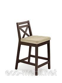 Барний стілець Borys LOW ciemny orzech