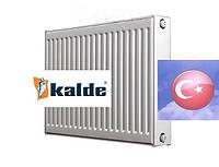 Стальной радиатор отопления Kalde Турция, 500 на 500, тип 22, боковое подключение