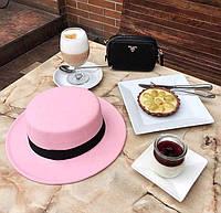 ФЛ305 Модные шляпки Канотье в осеннем варианте