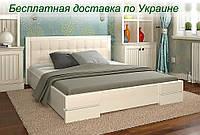 Кровать деревянная Регина двуспальная из натурального дерева