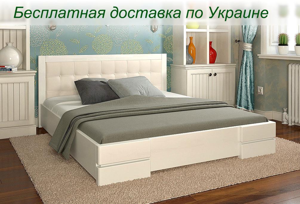 Кровать деревянная Регина двуспальная из натурального дерева  - Romaniv_Kolir в Киеве