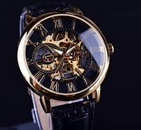 Механические мужские часы Forsining Черный