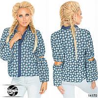 Легкая джинсовая рубашка в расцветках 336 (1398)