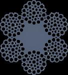 Канат стальной оц 6хЗ6(1+7+7/7+14)+1 о.с. ТУ 14-4-1444