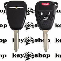 Ключ для Chrysler (Крайслер) 3 кнопки + 1, чип ID46 (PCF7941), 315/433 MHz