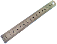 Лінійка будівельна, мет. 150 мм