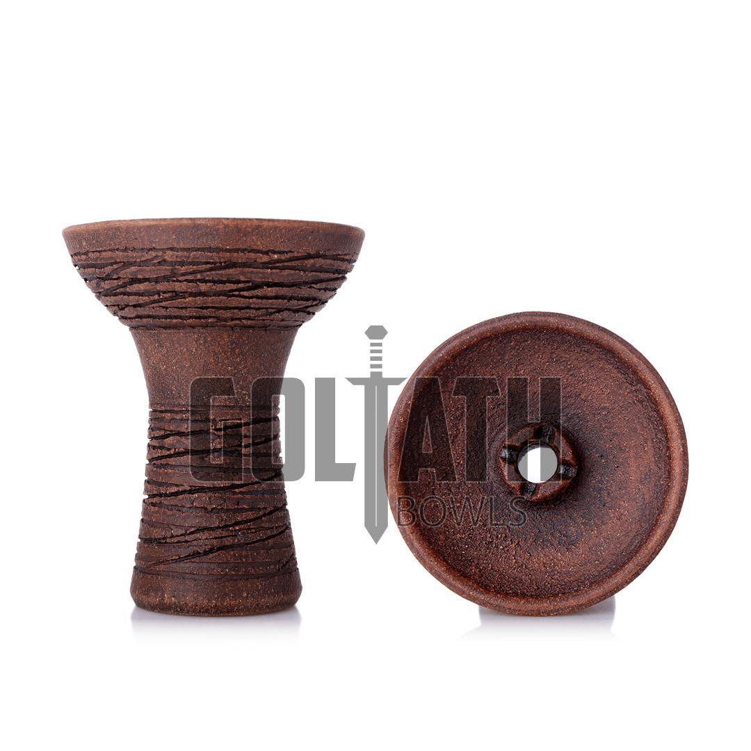 Чаша Goliath Bowl Column, Brown Leather