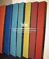Резиновая плитка 500х500х40 голубая