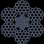 Канат стальной ЛК-3/ЛК-Р 6х19(1+6+6/6)+7х7(1+6) ТУ 14-4-273
