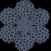 Канат стальной ЛК-3/ЛК-Р 6х25(1+6;6+12)+7х7(1+6) ТУ 14-4-273
