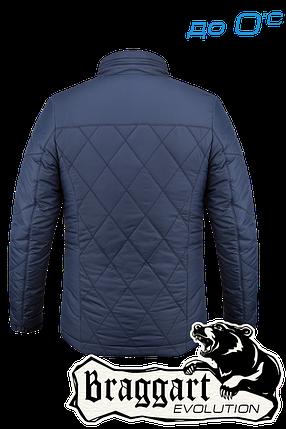 Осенняя мужская синяя куртка Braggart арт. 1214, фото 2