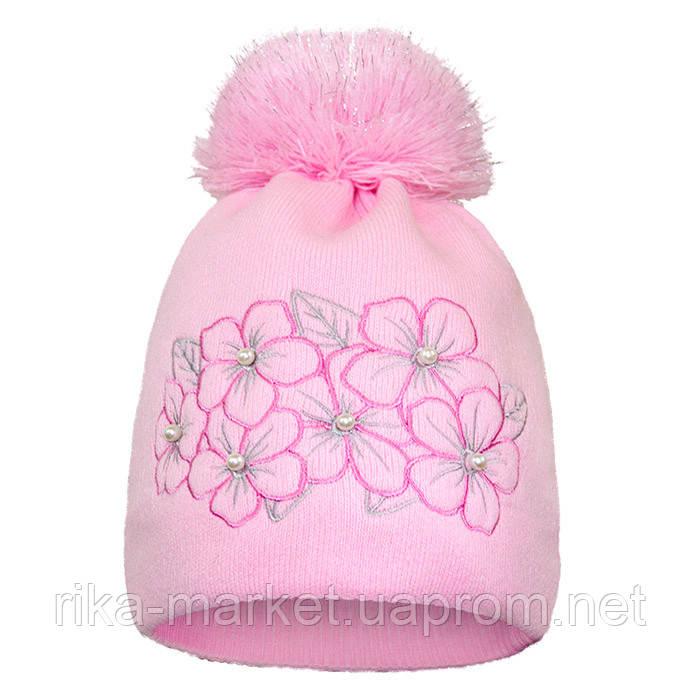 Зимняя шапка для девочки  арт 16324