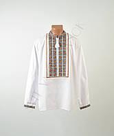 1100UAH. 1100 грн. В наличии. Біла чоловіча вишиванка на довгий рукав з  кольоровим орнаментом ручної роботи 310c17183b399
