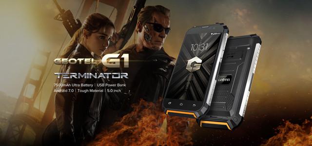 Защищенный смартфон Geotel G1 Terminator c батареей 7500 mAh