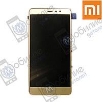 Дисплей (модуль экран + тачскрин) Xiaomi Redmi Note 3 gold
