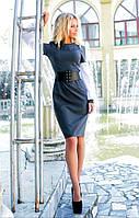 Жіноче пряме плаття з корсетом.Розміри 42-46