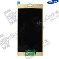 Дисплей Samsung A7 2015 (модуль экран + тачскрин) A700 Gold