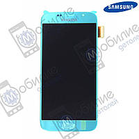 Дисплей Samsung S6 (модуль экран + тачскрин) G920 Blue, GH97-17260D