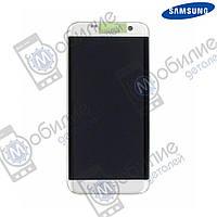 Дисплей Samsung S7 Edge (модуль экран + тачскрин) G935 Silver
