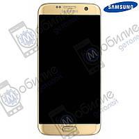 Дисплей Samsung S7 Edge (модуль экран + тачскрин) G935 Gold
