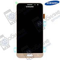Дисплей Samsung J3 2016 (модуль экран + тачскрин) J320 Gold