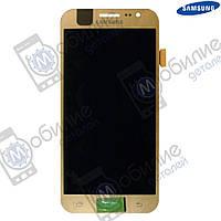 Дисплей Samsung J5 2015 (модуль экран + тачскрин) J500 Gold