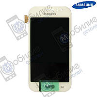 Дисплей Samsung J1 2015 (модуль экран + тачскрин) J110 White, GH97-17843A