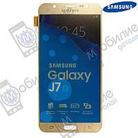 Дисплей Samsung J7 2016 (модуль экран + тачскрин) J710 Gold