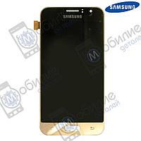 Дисплей Samsung J1 2016 (модуль экран + тачскрин) J120 Gold