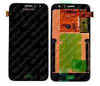 Дисплей Samsung J1 2016 (модуль экран + тачскрин) J120 Black