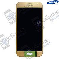 Дисплей Samsung J2 2015 (модуль экран + тачскрин) J200 Gold