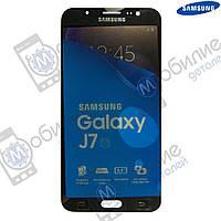 Дисплей Samsung J7 2016 (модуль экран + тачскрин) J710 Black, GH97-18855B