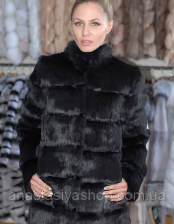Шуба из меха украинского кролика