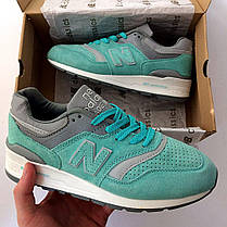 "Кроссовки New Balance 997 ""Turquoise/Grey/White"", фото 3"