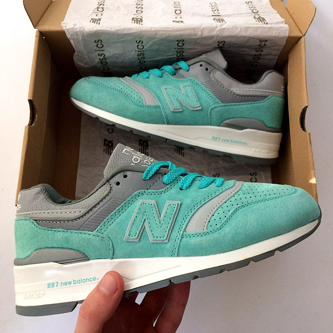 "Кроссовки New Balance 997 ""Turquoise/Grey/White"""