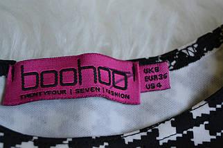 Кроп-топ в принт гусиная лапка Boohoo, фото 3
