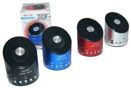 Портативная колонка MP3 от USB FM WS-A9 черный, серебристый, красный