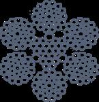 Канат стальной двойной свивки ЛК-РО 6хЗ6(1+7+7/7+14)+Зх7(1+6)+3 ТУ 14-4-532-74