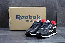 Кроссовки мужские Reebok Classic темно синие с белым 43,44, фото 3