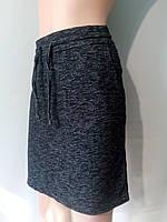Женская юбка размер М с начесом и карманами есть шнурок для регулировки пояса, фото 1