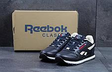 Кроссовки мужские Reebok Classic синие с белым, фото 3